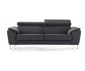 Canapé cuir noir contemporain