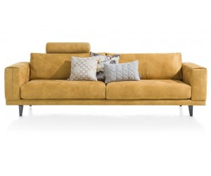 Canapé en cuir jaune