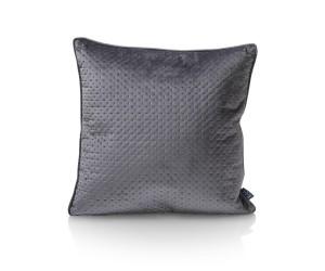 Coussin carré uni gris