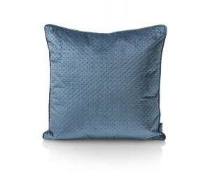 Coussin carré uni bleu