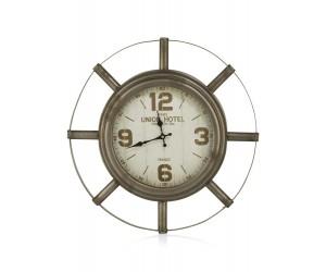 Horloge murale en métal style industriel