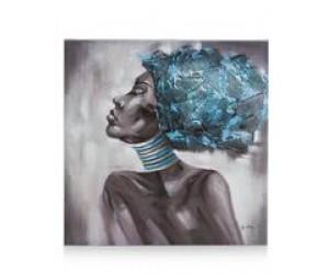 Tableau femme africaine de profil