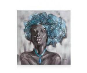 tableau portrait femme africaine de face
