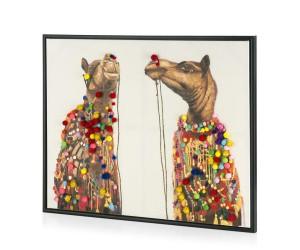 Tableau chameaux parrures colorées