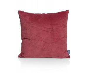 Coussin carré en velours rouge délavé