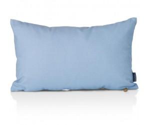 Coussin rectangulaire bicolore bleu et gris