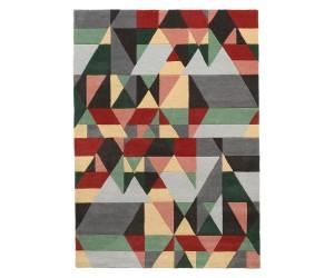 Tapis rectangulaire formes geometriques colorées