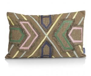 Coussin rectangulaire en coton multicolore