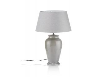 Lampe à poser grise abat jour