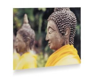 Tableau bouddha vêtu de jaune