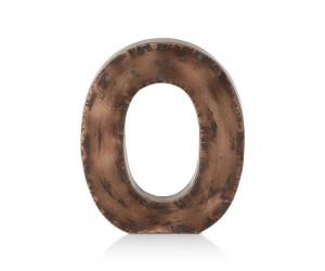 Lettre décorative en forme de O couleur cuivre