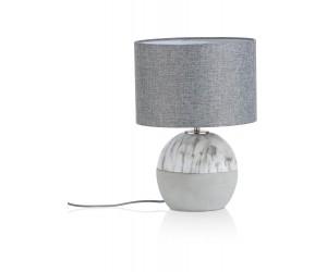 Lampe à poser grise marbre