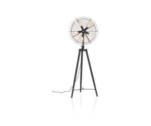 Lampadaire noir style ventilateur
