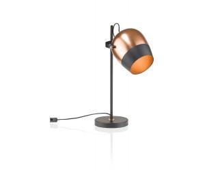 Lampe à poser couleur cuivre et noir