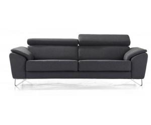Canapé 3,5 places design noir