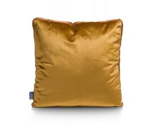 Coussin carré velours jaune