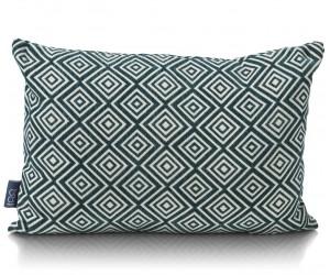 coussin rectangulaire design gris et blanc