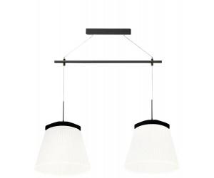 Suspension luminaire noire et blanche