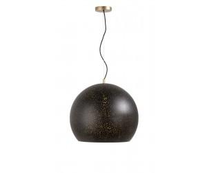 Suspension boule noir moderne et chaleureuse