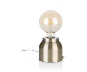 Lampe à poser or ampoule vintage