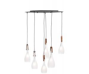 Suspension luminaire 6 ampoules