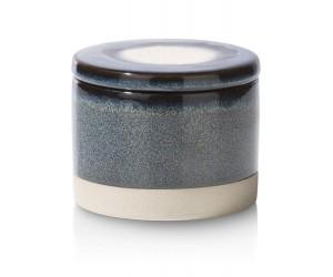 Pot bleu en céramique