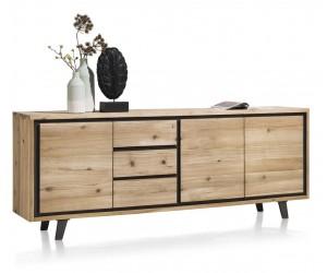 Buffet en bois style industriel