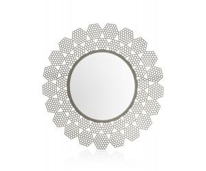 Miroir rond gris anthracite