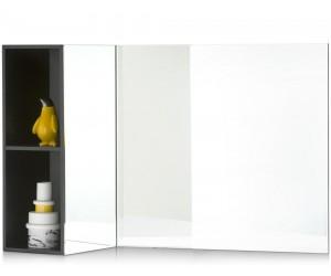 Miroir rectangulaire avec mini bibliothèque