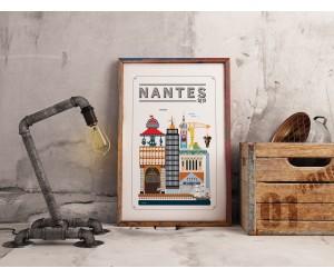 Tableau Nantes minimaliste