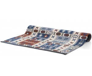 Tapis rectangulaire bleu blanc et orange