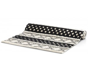 Tapis style berbere noir et blanc