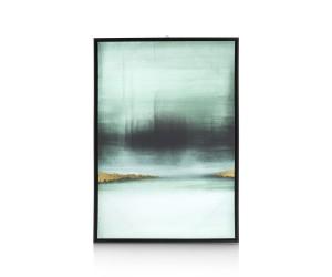 Tableau abstrait dégradé vert