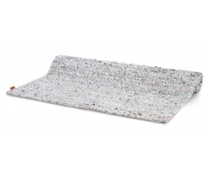 Tapis rectangulaire multicolore dominante blanche