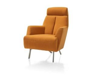 Fauteuil confort tissus orange