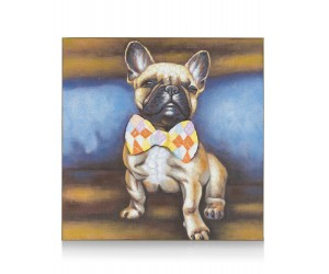 Peinture Bulldog noeud papillon