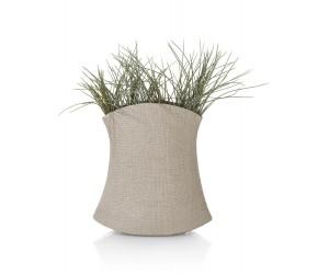 Vase céramique aspect lin beige