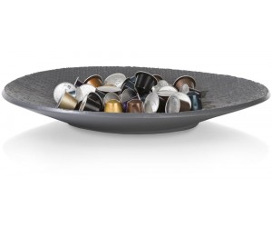 Plateau assiette céramique gris anthracite