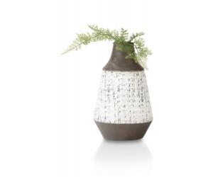 Vase métal blanc et marron