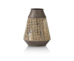 Vase en métal marron