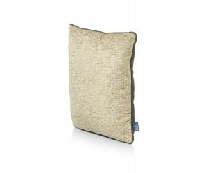 Coussin carré bi matière gold et kaki