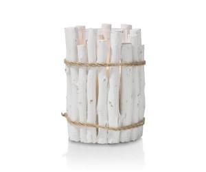 Chandelier imitation bois blanc détail corde