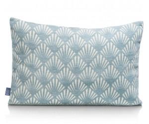 Coussin rectangulaire motif bleu et blanc
