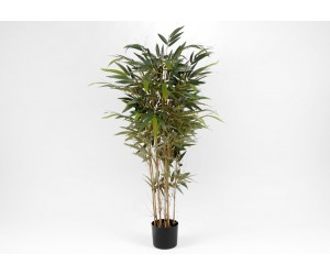 Plante artificielle bambou pot noir