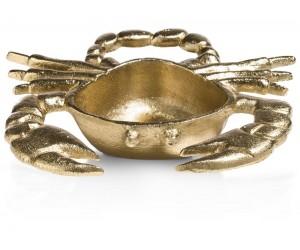 Vide-poches en forme de crabe couleur or
