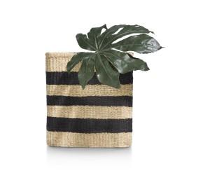 Vase imitation panier osier