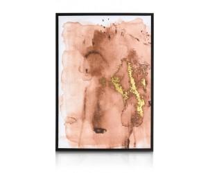 Tableau tendance abstrait orange et gold