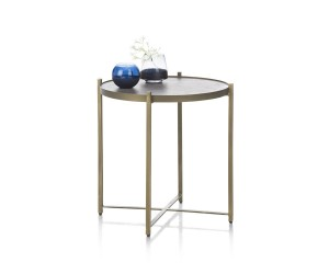 Table d'appoint ronde gold
