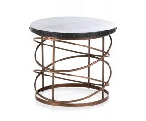 Table d'appoint métal noir et cuivre