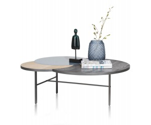 Table basse tricolore plateau 3 ronds